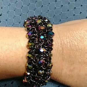Premier Designs iridescent beads stretch bracelet